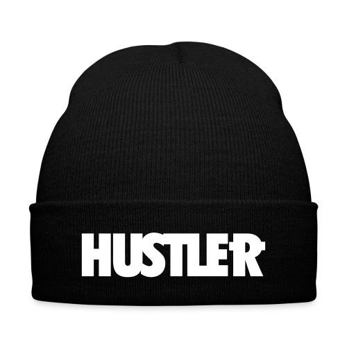 Hustler beanie with cuff  - Knit Cap with Cuff Print