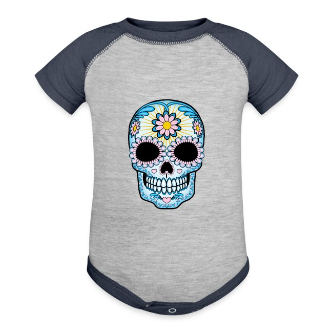 Clothes Hound Shop | Colorful Sugar Skull - Baby Contrast One Piece