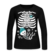 Long Sleeve Shirts ~ Women's Long Sleeve Jersey T-Shirt ~ Snow Princess Skelly (non maternity)