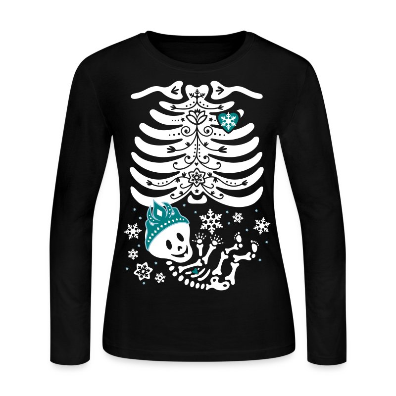 Snow Princess Skelly (non maternity) - Women's Long Sleeve Jersey T-Shirt