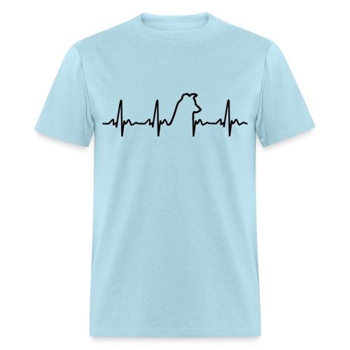 My Heart Beats for Dogs Tee Men's w/ HGAS logo - Men's T-Shirt