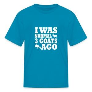 Kid's I was normal 3 Goats ago Tee w/HGAS logo - Kids' T-Shirt
