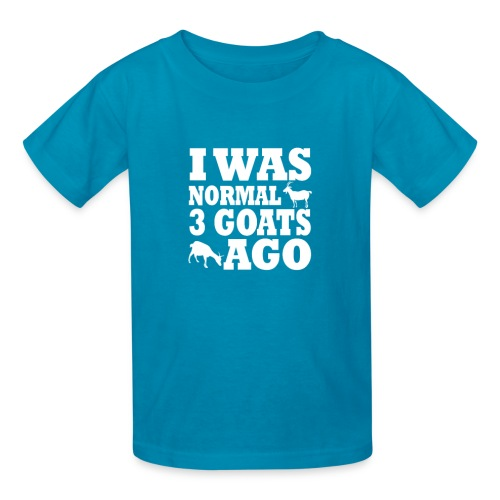 Kid's I was normal 3 Goats ago Tee w/HGAS logo - Kids' T-Shirt