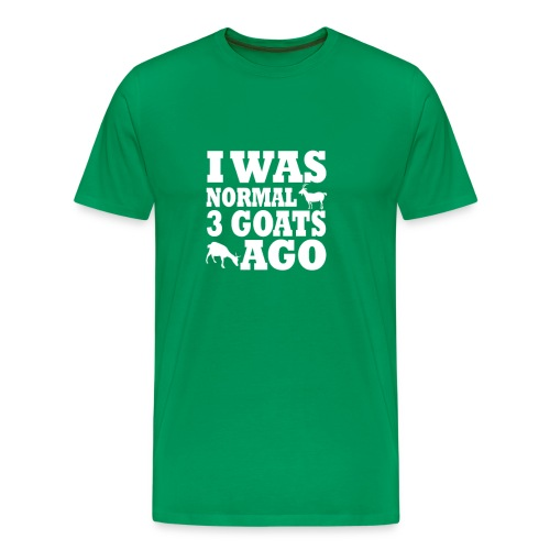 I was normal 3 Goats ago Tee w/ HGAS logo Men's - Men's Premium T-Shirt