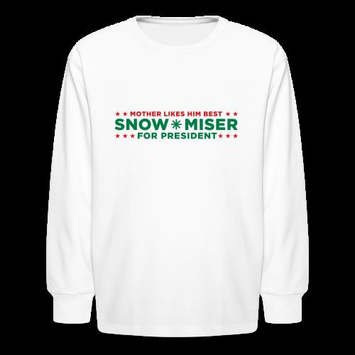 Snow Miser for President - Kids' Long Sleeve T-Shirt