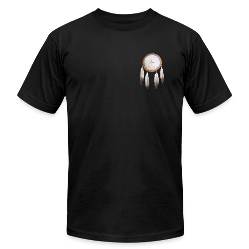 Rainbow Shield Pocket T-shirt - Men's Fine Jersey T-Shirt