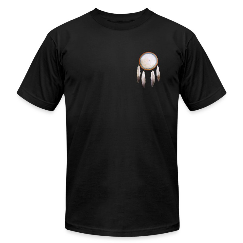 Rainbow Shield Pocket T-shirt - Men's T-Shirt by American Apparel