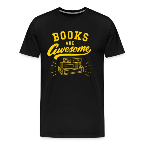 Books Are Awesome Graphic Tee - Men's Premium T-Shirt
