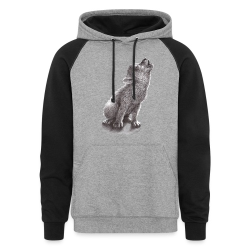 Young Howling Wolf - Colorblock Hoodie