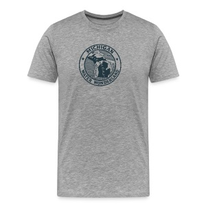 Michigan Water Wonderland Ash T-Shirt by Verbeeish - Men's Premium T-Shirt