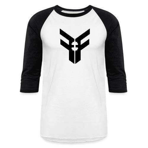 Men's Baseball Tee (White/Black) - Baseball T-Shirt
