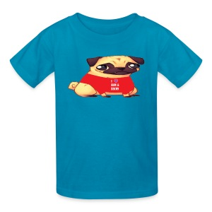 Pugs Love Ham & Bacon by Marissa Saria - Kids' T-Shirt