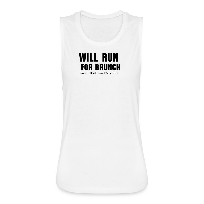 Will Run for Brunch Muscle Tank - Women's Flowy Muscle Tank by Bella