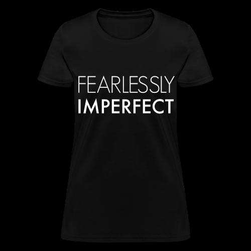 Fearlessly Imperfect Women's Crewneck - Women's T-Shirt