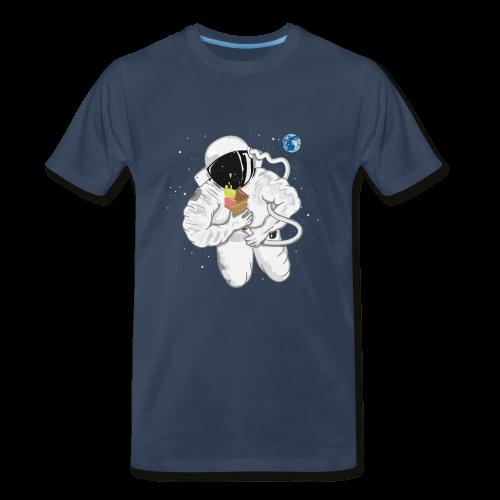 Astronaut With Ice Cream - Men's T-Shirt - Men's Premium T-Shirt