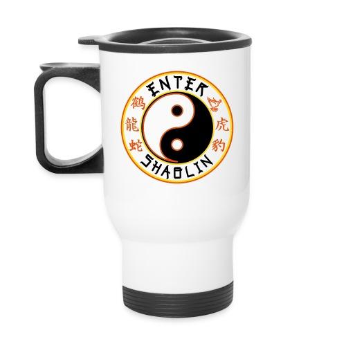 Enter Shaolin White & Black Thermal Travel Mug (Both Logos) - Travel Mug