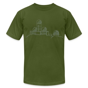 Listening station on Teufelsberg - Men's T-Shirt by American Apparel