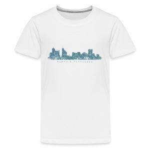 Memphis, Tennessee Skyline T-Shirt (Children/White) - Kids' Premium T-Shirt