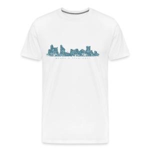 Memphis, Tennessee Skyline T-Shirt (Men/White) - Men's Premium T-Shirt