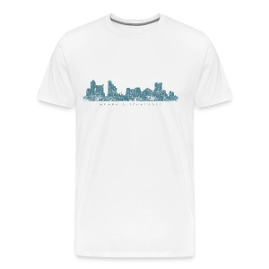 Memphis, Tennessee Skyline T-Shirt (Men/White) - Men's Premium T-Shirt