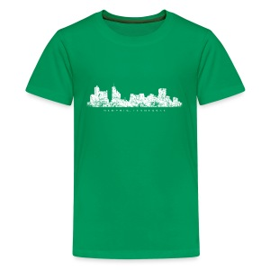 Memphis, Tennessee Skyline T-Shirt (Children/Green) - Kids' Premium T-Shirt