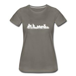 Memphis, Tennessee Skyline T-Shirt (Women/Asphalt) - Women's Premium T-Shirt