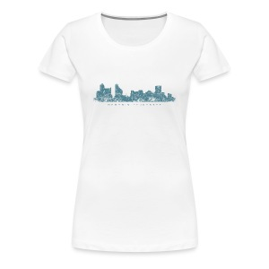 Memphis, Tennessee Skyline T-Shirt (Women/White) - Women's Premium T-Shirt