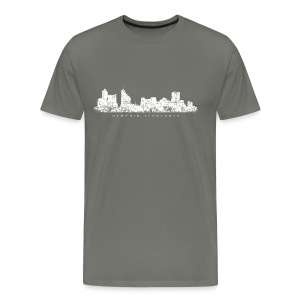 Memphis, Tennessee Skyline T-Shirt (Men/Asphalt) - Men's Premium T-Shirt