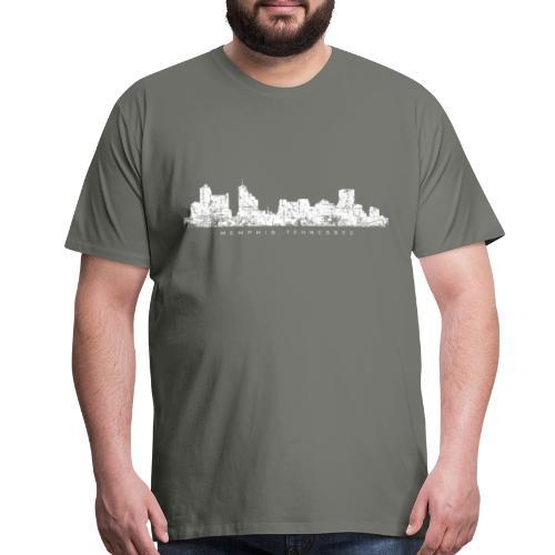 Memphis, Tennessee Skyline T-Shirt (Men/Asphalt) - Men's Premium T-Shirt