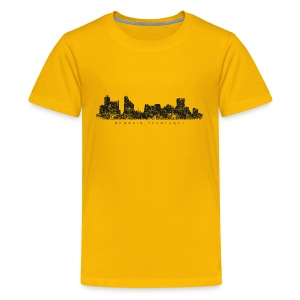 Memphis, Tennessee Skyline T-Shirt (Children/Yellow) - Kids' Premium T-Shirt