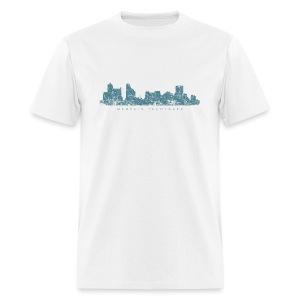 Memphis, Tennessee Skyline T-Shirt (Men/White) - Men's T-Shirt