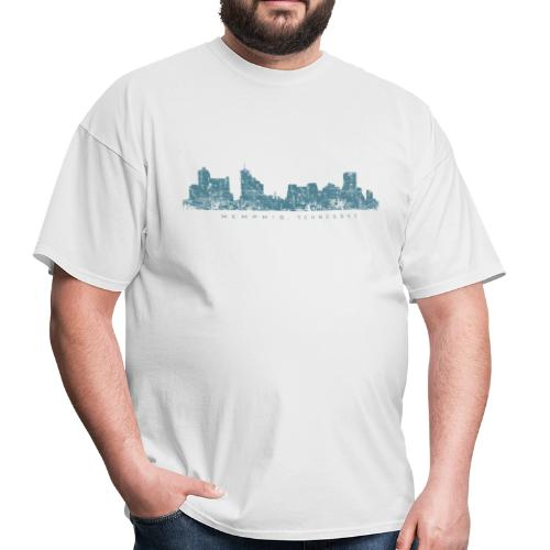 Memphis, Tennessee Skyline T-Shirt (Men/White) - Men's T-Shirt
