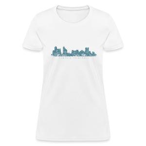Memphis, Tennessee Skyline T-Shirt (Women/White) - Women's T-Shirt