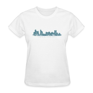 Memphis, Tennessee Skyline T-Shirt (Women/White) - Women's T-Shirt