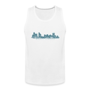 Memphis, Tennessee Skyline Tank Top (Men/White) - Men's Premium Tank
