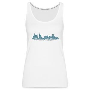 Memphis, Tennessee Skyline Tank Top (Women/White) - Women's Premium Tank Top
