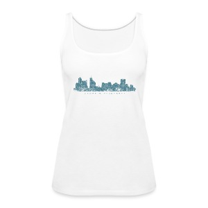 Memphis, Tennessee Skyline Tank Top (Women/White) - Women's Premium Tank Top