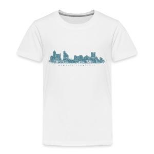 Memphis, Tennessee Skyline T-Shirt (Toddler/White) - Toddler Premium T-Shirt