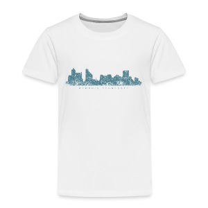 Memphis, Tennessee Skyline T-Shirt (Toddler/White) - Toddler Premium T-Shirt