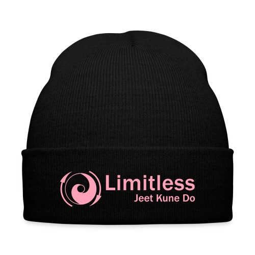 Limitless JKD Skull Cap - Pink Letters - Knit Cap with Cuff Print
