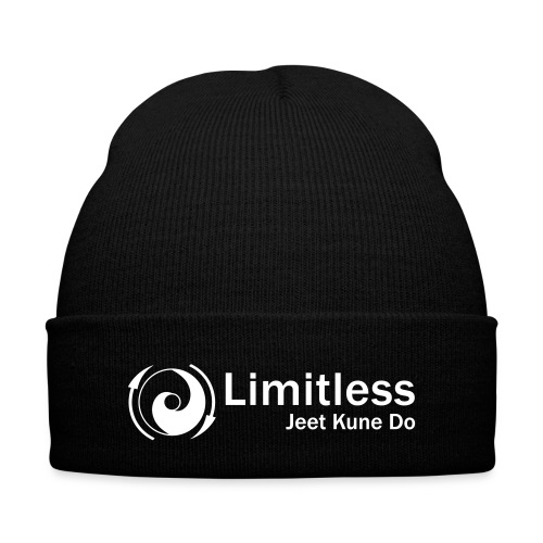 Limitless JKD Skull Cap - White Letters - Knit Cap with Cuff Print