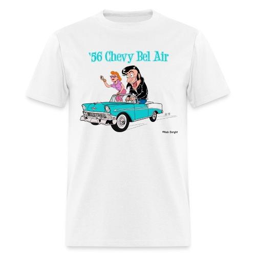 1956 Chevy Bel Air Cartoon - Men's T-Shirt