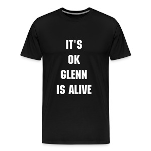 Mens Glenn's Alive Tee Black - Men's Premium T-Shirt