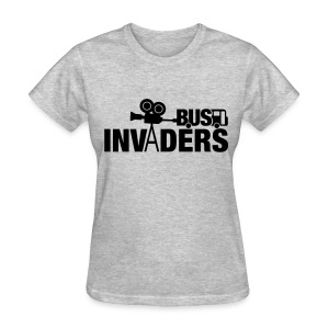 Bus Invaders Women's T-shirt - Black Design - Women's T-Shirt