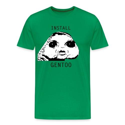install gentoo - Men's Premium T-Shirt