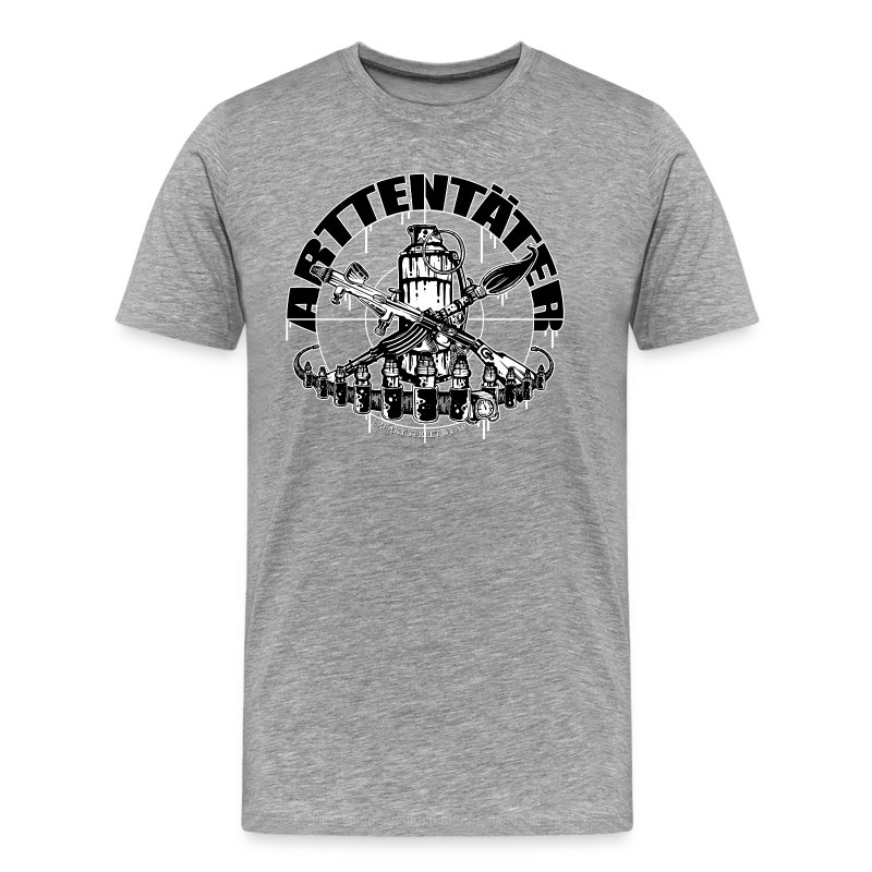 Arttentäter 1 - make art, not war - Men's Premium T-Shirt
