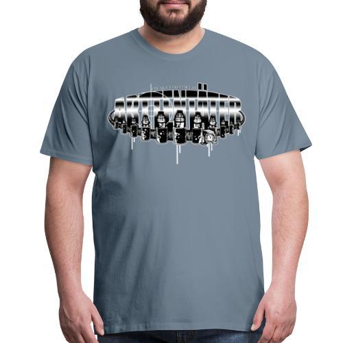 Arttentäter 5 - make art, not war - Men's Premium T-Shirt