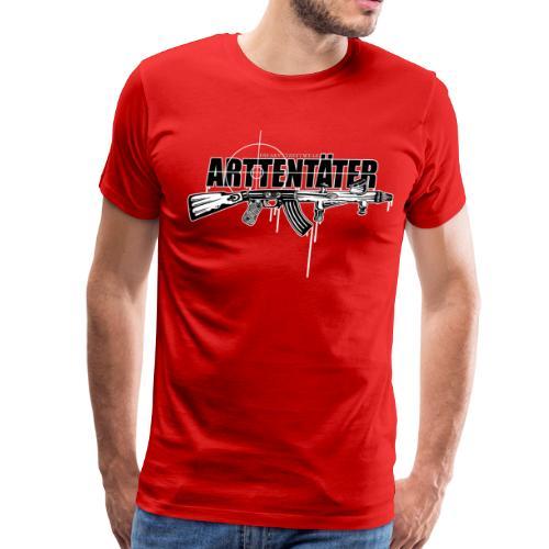 Arttentäter 4 - make art, not war - Men's Premium T-Shirt
