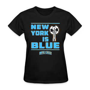 NY is BLUE - Women's T-Shirt, Black - Women's T-Shirt