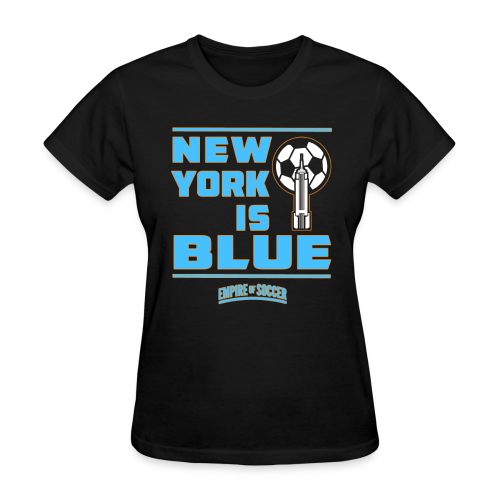 NY is BLUE - Women's T-Shirt, Black - Women's T-Shirt